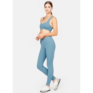 Outdoor Voices Parallels Ribbed Legging Celeste
